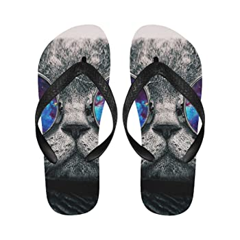 Non-Slip Flip Flop Slippers, Ethnic Indian Elephant Summer Beach Slim Thong Sandal Outdoor Casual Footwear