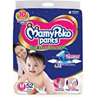 MamyPoko Pants Extra Absorb Diaper, Medium (52 Count)