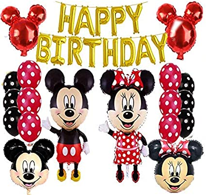 Amazon.com: Mickey Mouse Happy Birthday Banner Decorations ...