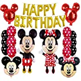Mickey Mouse/Minnie Mouse Birthday Party Supplies and Red Polka Dot Balloon Decorations
