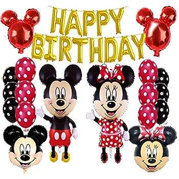 Amazon.com: Mickey y Minnie Mouse suministros de fiesta rojo ...