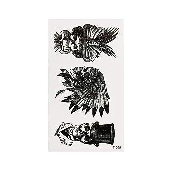 Justfox – Tatuaje temporal, calavera india, diseño negro, tatuaje ...
