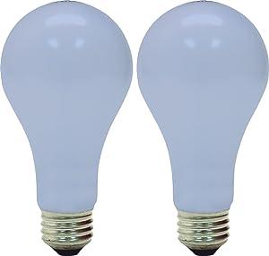 GE Lighting 97469 50/100/150-Watt 450/1150/1600-Lumen A21 3-Way Light Bulb, Frosted Reveal, 2-Pack