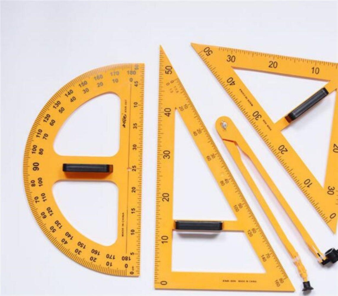 Individuelles exklusives Briefpapier-Präsentations 4 Stück Herrscher Set magnetische Tafel und Weißboard Lehrmittel Set - gelb