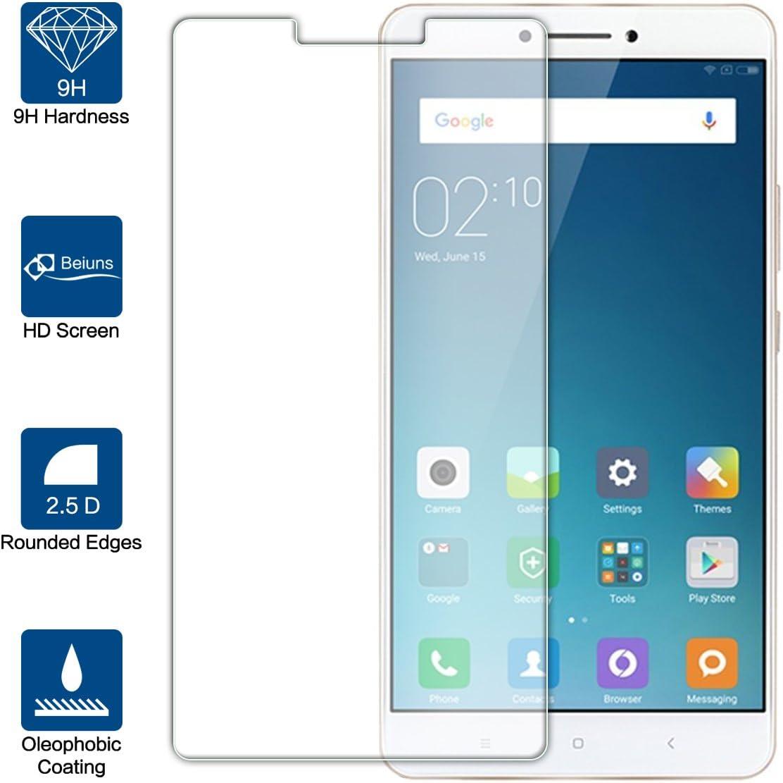 Beiuns para Xiaomi Mi MAX (6,44 Pulgadas) Vidrio Templado Protector de Pantalla