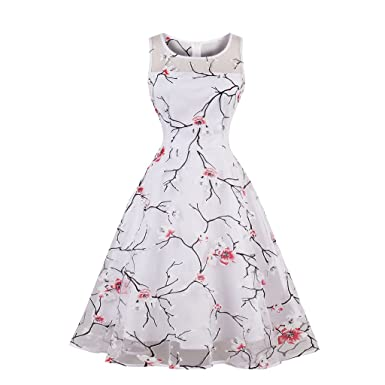KeKeD23921 Womens Chinese Print Vintage Dress Elegant 60s Summer Retro Dress For Party Office Casual Dress Vestidos at Amazon Womens Clothing store:
