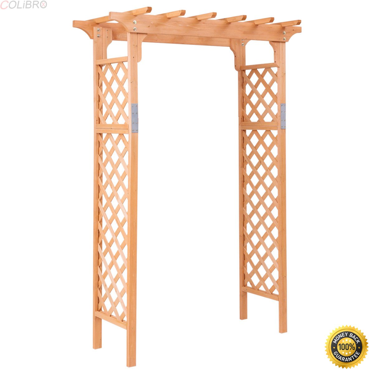 COLIBROX--Arbor Over 7FT High Wooden Garden Arch Trellis Pergola Outdoor Patio Plant,Extra-Tall Arch Provides An Attractive Archway,Extra-Tall Arch For Climbing Plants,New Garden Arch.