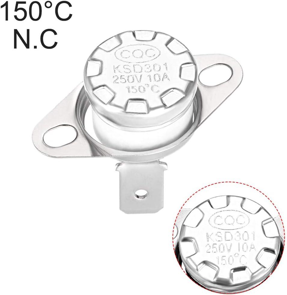 sourcing map interruptor de control de temperatura termostato 50 /° c 10a normalmente cerrado nc 5pcs