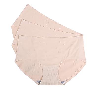 d9cd8b681c05 JingYun Women's Seamless Underwear Breathable Panties No Show Briefs Mesh  Spandex Low Waist (X-