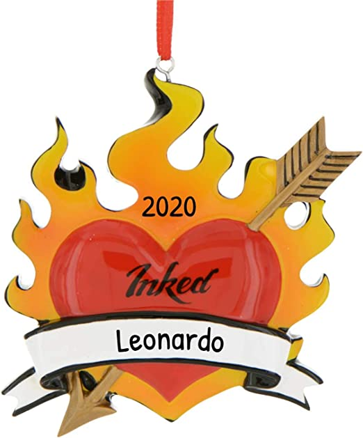Christmas Gifts 2020 For Mentor Amazon.com: Personalized Tattoo Artist Christmas Tree Ornament