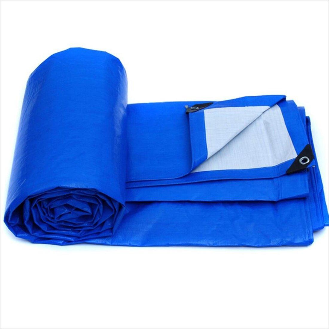 DNSJB Kantenschutz, Outdoor-Sonnenschutz, LKW-Plane, Leicht zu Falten, in Verschiedenen Größen erhältlich, Blau, Hochwertige Plane (Größe   6m × 4m)