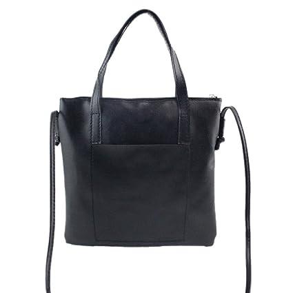 a1637ded7062 Handbag Large,Clearance! AgrinTol Women Fashion Handbag Shoulder Bag Large  Tote Ladies Purse (Black)