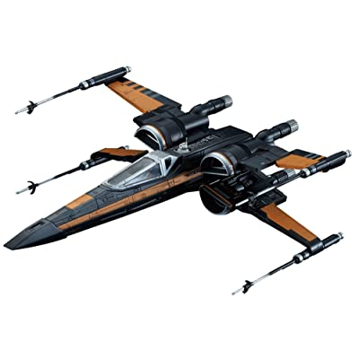 Bandai Hobby Star Wars 1/72 Poe's X-Wing Fighter The Force Awakens Building Kit: Toys & Games
