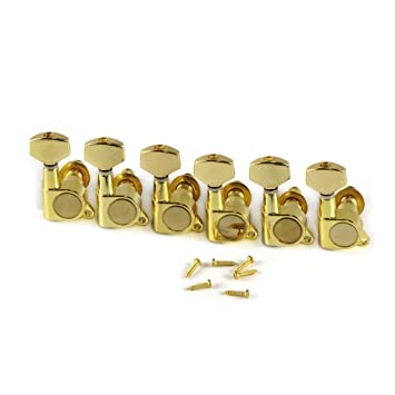 IKN 6R cierre de giro para guitarra eléctrica clavijas de Color dorado