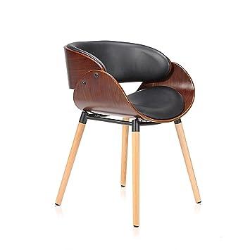 Makika Design Stuhl Retro Bürostuhl Vintage Hocker Kunstleder