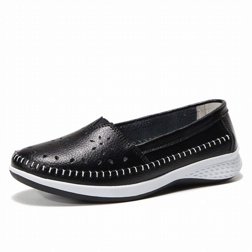 Fuxitoggo Schuhe Klassische Allgleiches Zufällige Schuhe Bequeme Schuhe Fuxitoggo Erbsen Beschuht Rutschfeste Abnutzungsschuhe (Farbe   Weiß Größe   38) e4e649