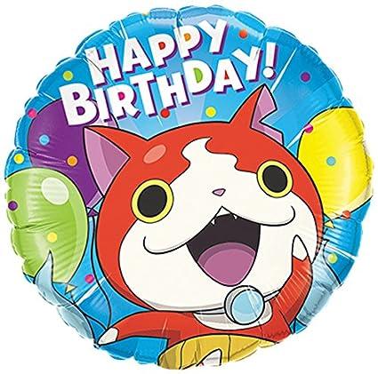 Qualatex Foil Balloon 45285 YO Kai Watch Jibanyan Birthday 18quot Multicolored