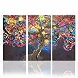 Sea Charm - Abstract Sex Women Canvas Wall Art Modern Lucky Tree Wall Art for Living Room,creative Picture Framed on Canvas,3 Panel Artwork for Wall Decor Ready to Hang