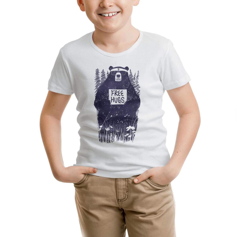 TylerLiu Free HUGS Bear Unisex Boys Girls Print t Shirts