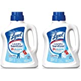 Lysol Laundry IFfuN Sanitizer Additive, Crisp Linen, 90 Ounce (2 Pack)