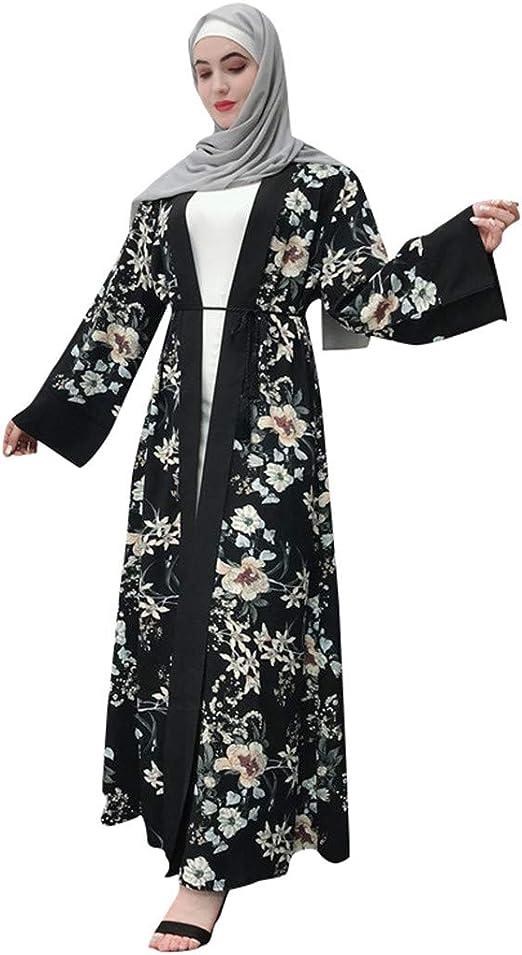 Ladies Maxi Kimono Dress Kaftan Robe One Size