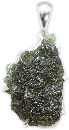 Moldavite Pendant Necklace by Stones Desire