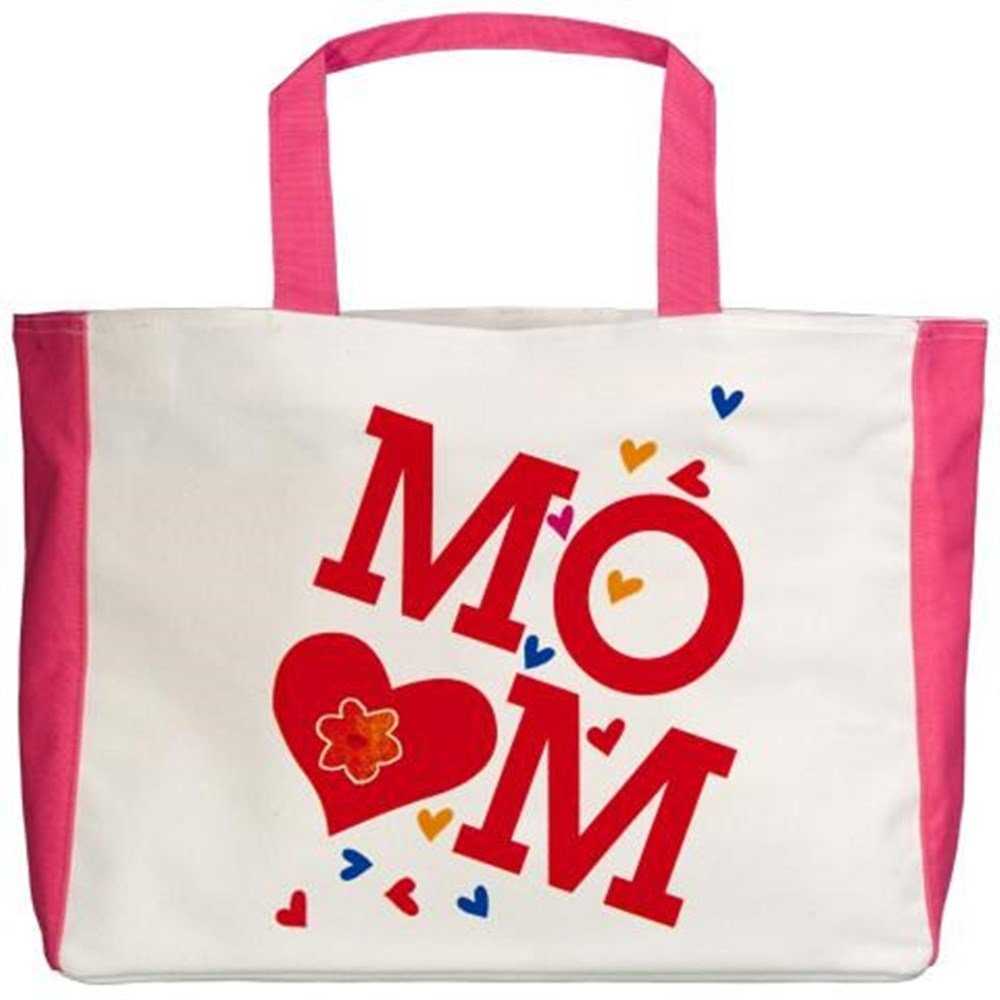 Mom with Hearts I Love My Mother Royal Lion Beach Tote 2-Sided
