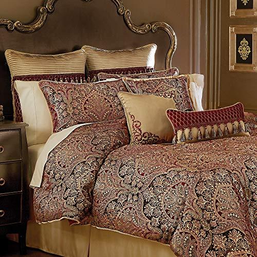 Croscill Roena King Comforter, Burgundy