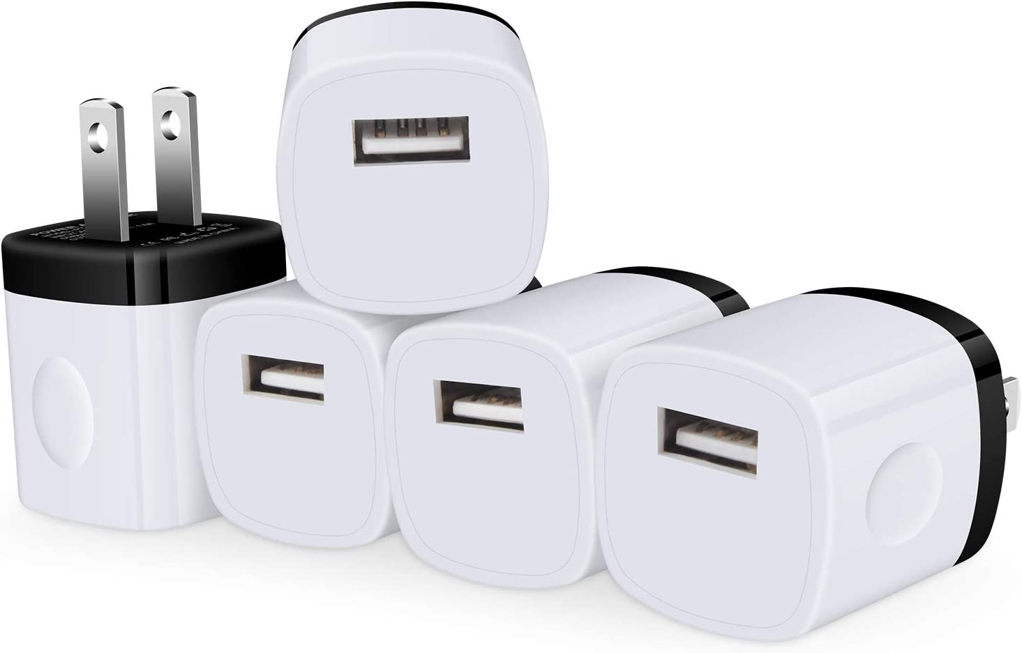 iPhone 12 Pro Charger Blocks Fast Charging Single USB Wall Plug Cube Fast Charger Box Travel Power Adapter Compatible iPhone 11/12 Pro Max X 8 SE, iPad Pro 12.9/11, Samsung S21 Plus Note 20 5Pack