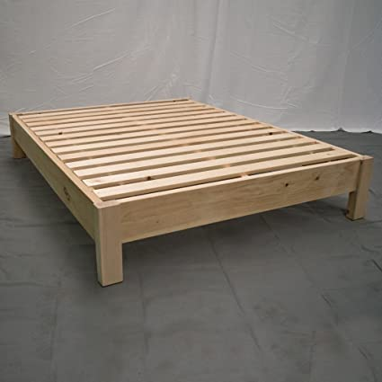 Amazon Com Unfinished Farmhouse Platform Bed Queen Traditional
