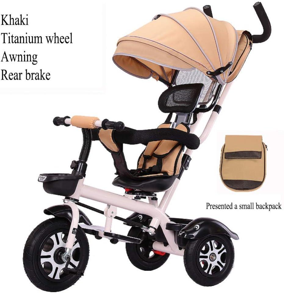 LZQBD Childrens Fun/Bicicletas for niños Triciclo Ciclismo Carro de bebé del Cochecito, Asiento Giratorio, 3-en-1 de Bicicletas, 75x55x90cm, 1-6 años, (Color : G3): Amazon.es: Hogar