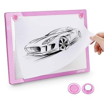 AGPTEK A4 Tableta de Luz con 4 x Imanes, Drawing Pad Ultradelgada ...
