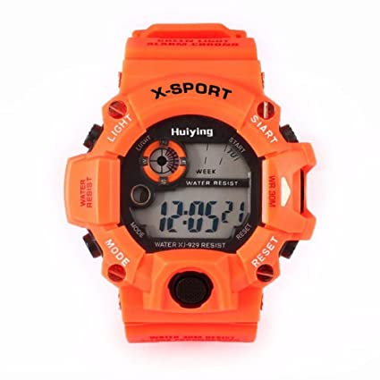 Amazon.com: Quaanti New Sports Watches LED Military Silicone Waterproof 3Bar Relojes Hombre Digitales in Blue Gray Orange Red Yellow (Orange): Arts, ...