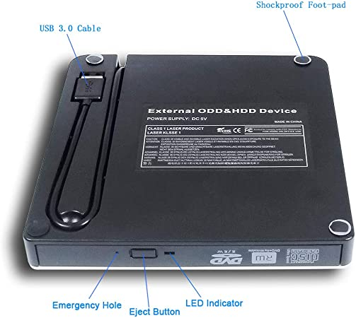 USB 2.0 External CD//DVD Drive for Acer travelmate 3260-4542