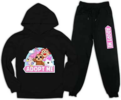 Youth Boys Girls r-ob-lox Adopt me Hoodie and Pullover Sweatpants Suit 2 Piece Outfit Sweatshirt Set