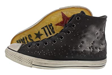 48d07b53ceaf Converse by John Varvatos Distressed Studded Leather Hi Sneaker Silver (9  D(M)