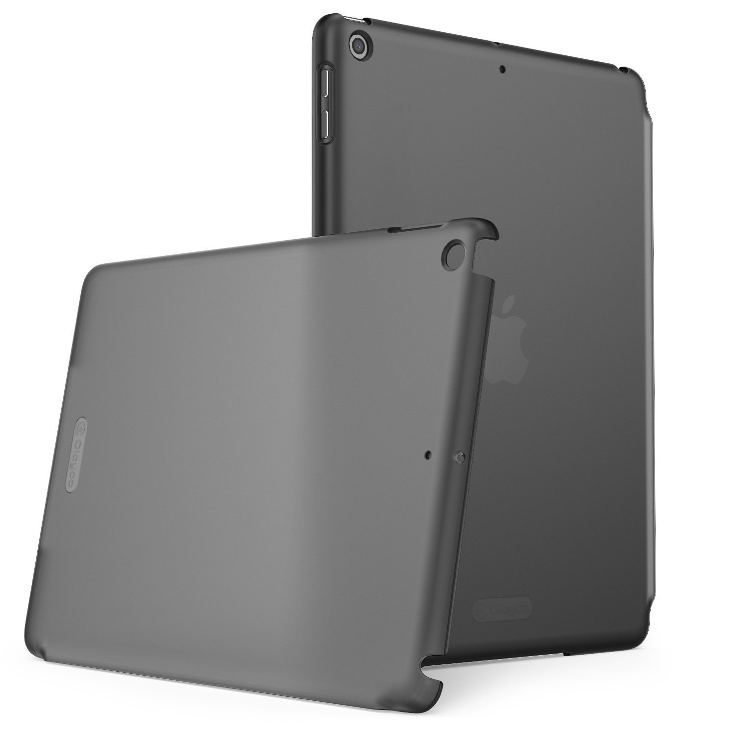 New iPad 9.7 2018/2017 Case, Clayco Clear Back Protector Lightweight Slim Fit for iPad 9.7 Case [Compatible with Offical Apple Smart Covers and Keyboard] (Frost/Black)