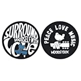 Slipmat Woodstock - Peace Love Music - Surround Yourself With Love - 2 Slipmats