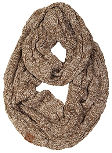S1-6100-6245 Funky Junque Infinity Scarf - Mocha Taupe