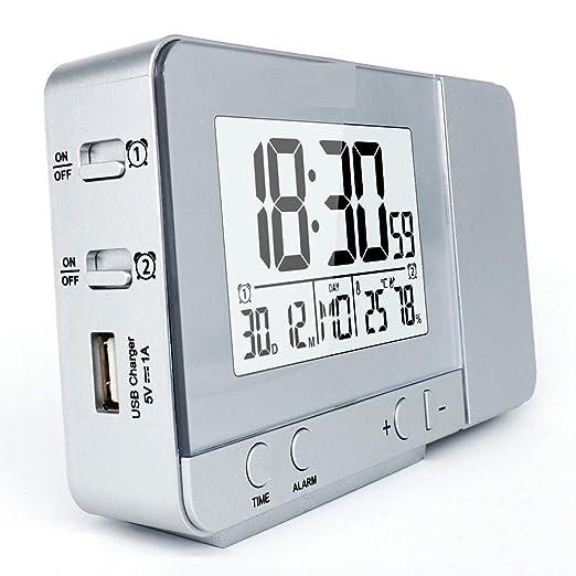 3 Pack, Reloj de Alarma de proyección Función de posposición de ...