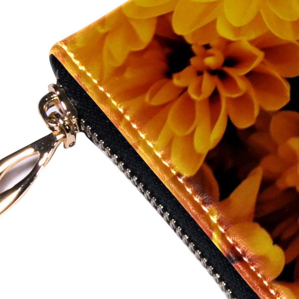 Inhomer Bamboo Shoots Leather Wallet Purse Cash Bag for Women