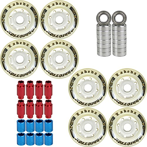 Labeda Addiction Wheels 72mm Roller Hockey 8-Pack with Micro Bearings/Spacers