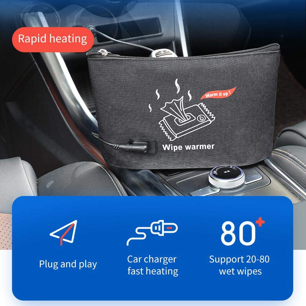 Car Wash Wipes Heater Portable Heating Bag Baby Wipes Car Wipes Heater Warmer Thermostat by Genekun