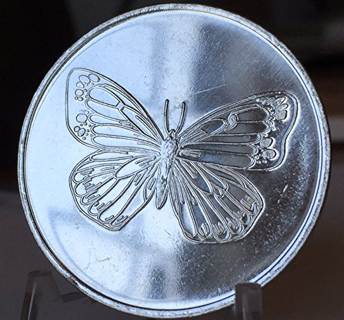 Set of 6 Aluminum Butterfly Serenity Prayer Medallions Sobriety Chips -