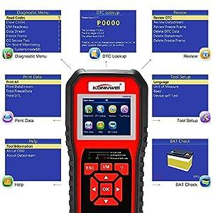 OBDII Auto Diagnostic Scanner KONNWEI KW850 OBD2 EOBD Full System Scan Tool Best Check Engine Code Scanner
