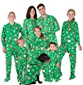 Footed Pajamas - Family Matching Tis The Season Onesies for Boys, Girls, Men, Women and Pets