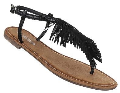 Damen Sandalen offen Riemchen Sommer Strand Schuhe Zehentrenner schwarz  gold rosa silber 36 37 38 39 40 41: Amazon.de: Schuhe & Handtaschen