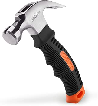 Tacklife 8 Oz Stubby Claw Hammer with Magnetic Nail Starter