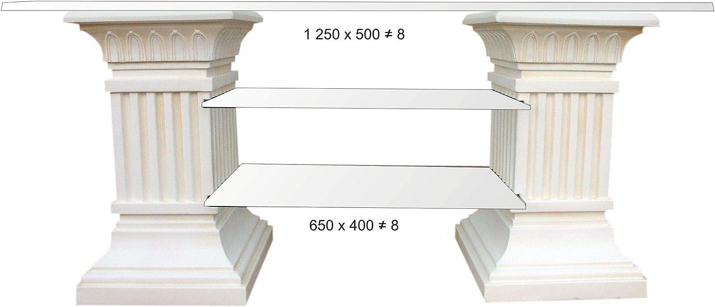 Karo - Mueble para TV (Cristal), diseño de estantería de Alta fidelidad, Color Blanco: Amazon.es: Juguetes y juegos