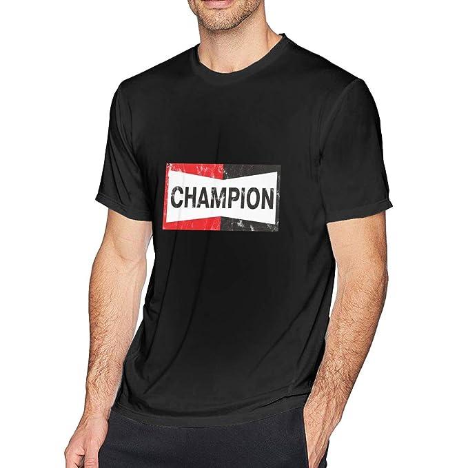 Black Men's Champion Spark Plugs Cool Short Sleeve Cotton T